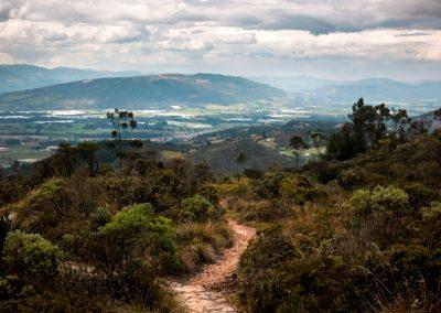Vista panorámica del valle de Suesca.