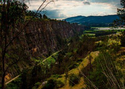 Vista aérea de las rocas de Suesca.