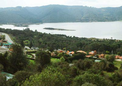 Vista panorámica del embalse San Rafael ubicado en el municipio de La Calera.